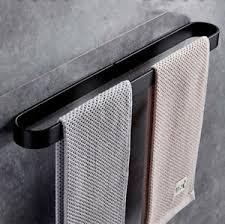 details zu handtuchhalter handtuchreling handtuchstange bad wandhandtuchhalter schwarz