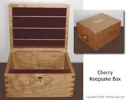 Wood Keepsake Box Plans