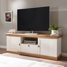 landhaus lowboard tv schrank 183cm pinie weiß wotan eiche wohnzimmer