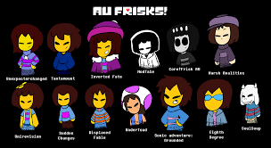 Theres A Lot Of AU Frisks Here Lets List Them All Unex Frisk Is
