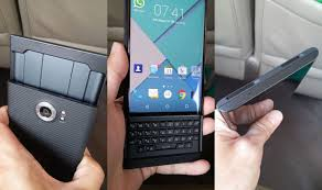 BlackBerry s Android slider with physical keyboard poses for the