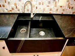 furniture black kitchen cabinets with white countertops mosaic