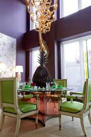 New York Plum Walls With Wool Area Rugs Dining Room Contemporary And Pedestal Table Upholstered Chairs