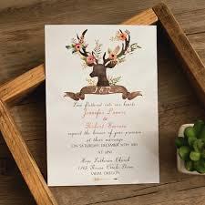 Bohemian Deer Flower Wedding Invitations EWI414 As Low 094