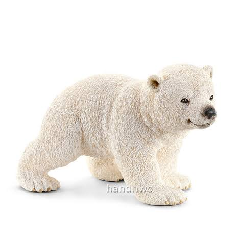 Schleich Wild Life Toy Figure - Walking Polar Bear Cub