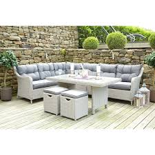 Pacific Lifestyle Slate Grey Antigua Relaxed Corner Dining Set