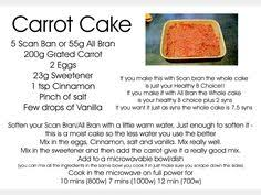 Carrot Cake Made With Scan Bran For Slimming World