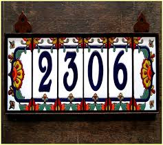 mexican ceramic tile house numbers home design ideas