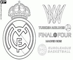 Real Madridchampion Euroleague 2015 Coloring Page Printable Game
