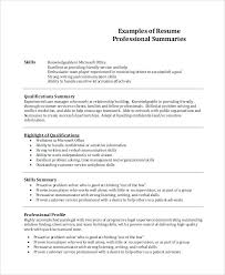 Sample Resume Summary Of Qualifications Impressive Design Examples Example 8 Samples In