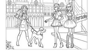 Barbie Fashion Fairytale Coloring Pages Printable Free