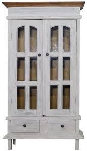 de vitrine schrank wohnzimmer antik weiss vintage