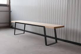 design bank massivholz esche und stahl 116 n51e12