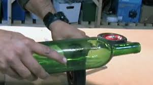 Cutting Glass Bottles With Wet Tile Saw by Learn 30 Second Wine Bottle Cutting Make