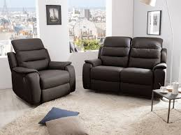 canap relax 2 places cuir ensemble canapé 2 relax manuel 2 places fauteuil relax