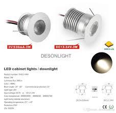 2018 3v 12v kitchen led cabinet light recessed spotlight