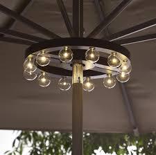 Solar Lighted Rectangular Patio Umbrella by Lighting Interesting String Lights Ideas For Patio Umbrella