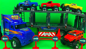New Bright Semi Hauler With 4 Free Wheeling Vehicles Big Truck Toys ... Amazoncom Wvol Big Dump Truck Toy For Kids With Friction Power Farm Iveco Recycle 116th Scale Acapsule Toys And Gifts Of The Week Heavy Duty Ride On Imagine Taco Lunch Tote Mouth Always Fits Dzking Rc Truck 118 Remote Contro End 12272018 441 Pm John Deere 38cm Scoop Big W Powworkermini Fire Vehicle Red Black Red Lepin 20076 Technic Series Set 42078 Building Blocks Radio Control Wheel Monster 4wd Rock Crawler 27mhz Car