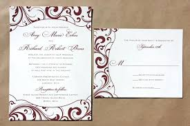 New Burgundy And Silver Wedding Invitations Or Swirl Pattern With Fun Shaped Frame