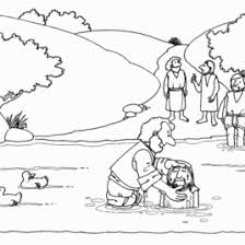 Coloring Page Jesus Baptism Archives