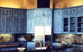 Image Of Rustic Blue Kitchen Cabinets