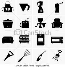 Kitchen Appliances Vector Clipart