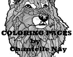Wolf Coloring Page Adult Picture Animals Wildlife Zentangle Advanced