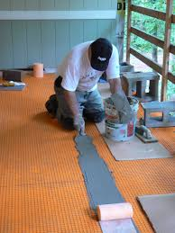 Tile Adhesive Mat Vs Thinset by Wood Porch With A Tile Deck Professional Deck Builder Outdoor