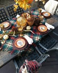 If Temperatures Are Forgiving This Fall Try An Outdoor Autumn Feast Decorate Your Table With Plaid Tablecloth Or Even A Throw Dont Forget To Keep Extra