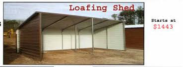 loafing shed kits oklahoma steel carports and metal sheds