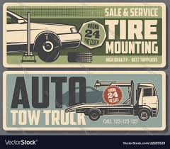 100 Free Tow Truck Service Tire Mounting And Tow Truck Service Royalty Vector