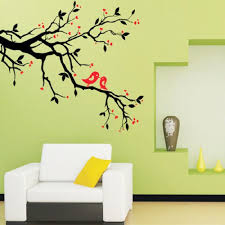 Wall Mural Decals Tree by Tree Branch Love Birds Cherry Blossom Wall Decor Decals Removable