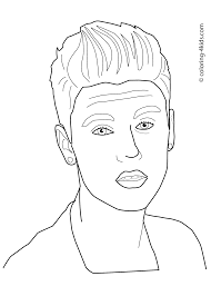 Justin Bieber Coloring Pages For Kids Printable Free Books