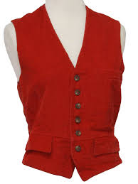 vintage 1990 u0027s vest 90s ralph lauren womens red cotton corduroy