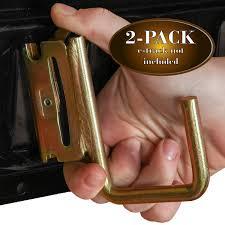 2 E-Track Steel JHooks, Tie-Down Accessories W/ E Track Spring ...