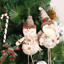 New Christmas Tree Ornaments Cute Santa Snowman Decoration Xmas Adornment Pendant Ornament Enfeites De Natal Navidad 2017