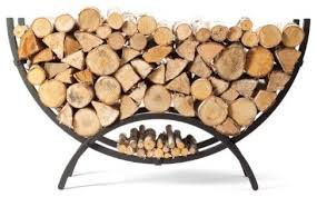 Woodhaven Crescent Firewood Rack Traditional Firewood Racks