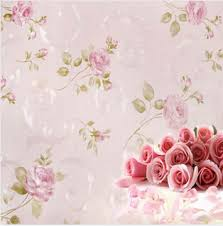 Europe Rustic Flower Wallpaper Rose Pink Purple Wall Paper Papel Parede 3D Waterproof Pared For