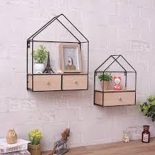 kreative eisen holz wohnzimmer schlafzimmer wand dreieck schrank schublade schrank router rack home dekoration
