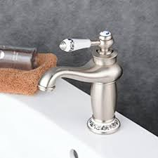 beelee wasserhahn bad waschtisch waschbecken armatur einhebelmischer mischbatterie badarmatur waschtischarmatur gebürstetes nickel