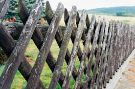 A Stick Wood Lattice Fence Is Good Old Style Design