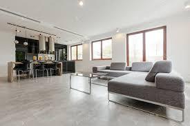 stilvolles wohnzimmer kombiniert mit küche foto bialasiewicz auf envato elements