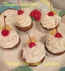 Paradise Pi±a Colada Cupcakes