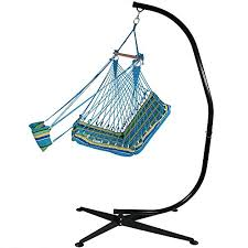 sunnydaze 26 inch wide hanging hammock chair with footrest and 7