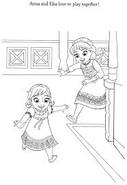 Frozen Princess Coloring Pages Printable Anna Elsa Full Size