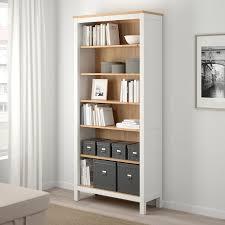 hemnes bookcase white stain light brown 35 3 8x77 1 2