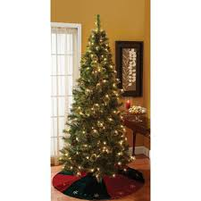 7 Foot Pre Lit Cashmere Mixed Pine Christmas Tree With Stand