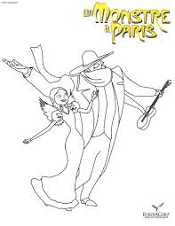 A Monster In Paris Images A Monster In Paris Coloring Page HD
