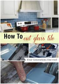 how to cut glass tile using a wet saw four generations one roof