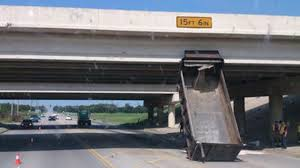 100 Truck Hits Overpass 7 S Hitting Bridges And A Sign Not The 11Foot8 Bridge YouTube